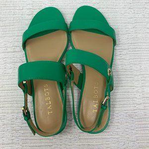 Talbots Women's Green Sandals Size 5 NWOT